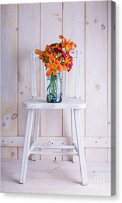 Day Lilly Canvas Print - Fresh Day Lilly Flowers  by Edward Fielding