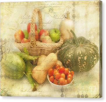 Fresh From The Garden Canvas Print by Linda Lees