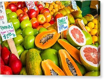 Fresh Fruit For Sale Canvas Print by Denise Lett
