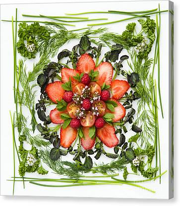 Fresh Fruit Salad Canvas Print by Anne Gilbert