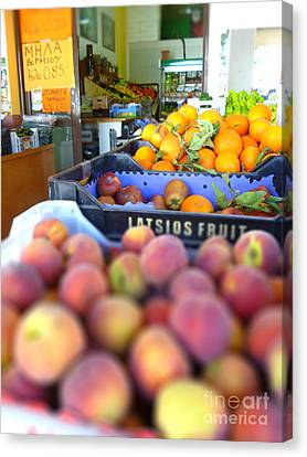 Canvas Print featuring the photograph Fresh Fruit by Vicki Spindler