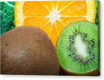 Fresh Fruits Canvas Print by Modern Art Prints