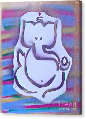 Fresh Ganesh 1 Canvas Print by Tony B Conscious