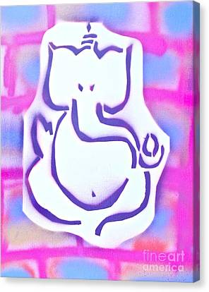 Fresh Ganesh 3 Canvas Print by Tony B Conscious