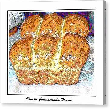 Fresh Homemade Bread 2 Canvas Print by Barbara Griffin