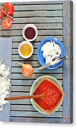 Fresh Ingredients Canvas Print by Tom Gowanlock