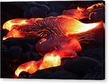 Fresh Lava Flow Canvas Print