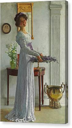 Youthful Canvas Print - Fresh Lavender by William Henry Margetson