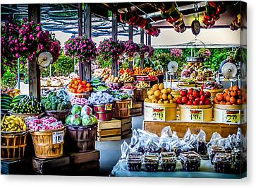Fresh Market Canvas Print by Karen Wiles