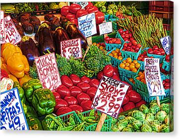 Fresh Market Vegetables Canvas Print by Andrea Auletta