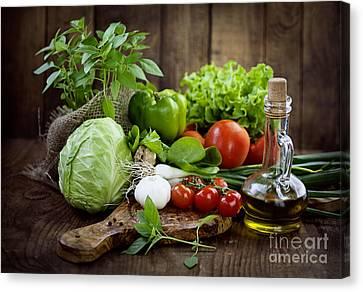 Fresh Organic Vegetables Canvas Print