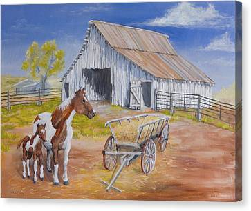 Fresh Paint Canvas Print by Jerry McElroy