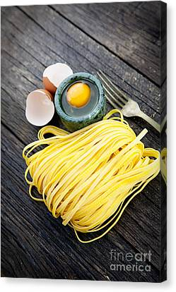 Fresh Pasta Canvas Print by Mythja  Photography