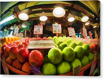 Fresh Pike Place Apples Canvas Print by Scott Campbell