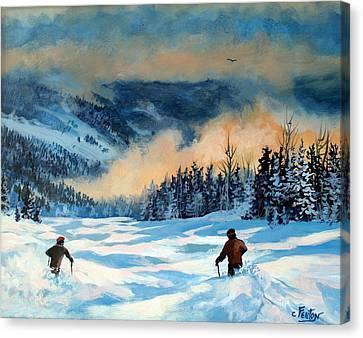 Fresh Powder Canvas Print by W  Scott Fenton