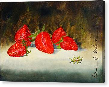 Fresh Strawberries Canvas Print by Dan Redmon