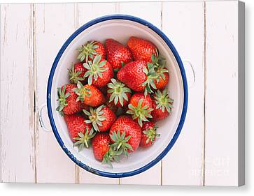 Strawberry Canvas Print - Fresh Strawberries  by Viktor Pravdica