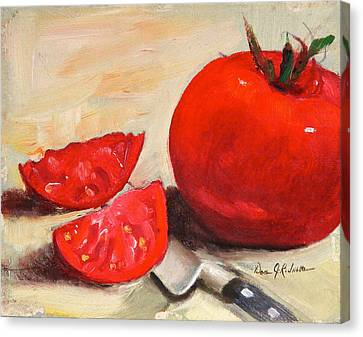 Fresh Tomatoes Canvas Print by Dan Redmon
