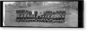 Freshman Football Squad, Catholic Canvas Print by Fred Schutz Collection