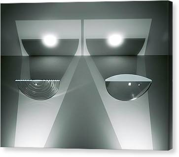 Fresnel And Plano-convex Lenses Canvas Print by David Parker