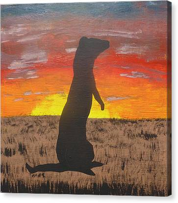 Black-footed Ferret Canvas Print - Frettaluna The Ferret by Kansas Campbell