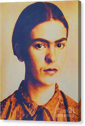 Frida In Sepia  3 Canvas Print by Roberto Prusso