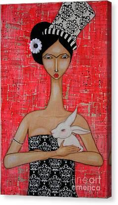 Frida In Wonderland Canvas Print by Natalie Briney