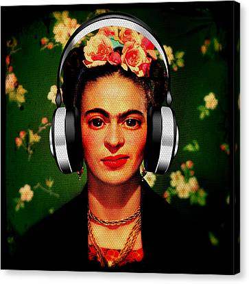 Frida Jams Canvas Print by Michelle Dallocchio