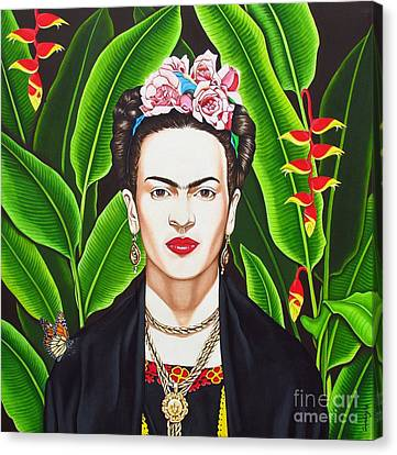 Canvas Print featuring the painting Frida by Joseph Sonday