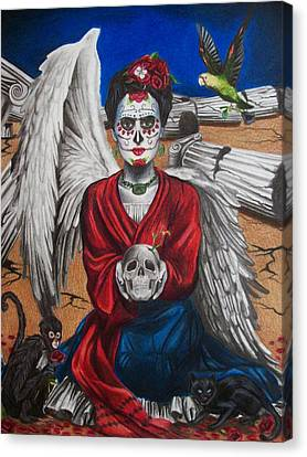 Frida Kahlo Canvas Print by Amber Stanford