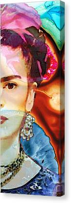 Frida Kahlo Art - Seeing Color Canvas Print by Sharon Cummings