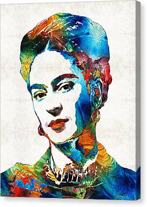 Frida Kahlo Art - Viva La Frida - By Sharon Cummings Canvas Print by Sharon Cummings
