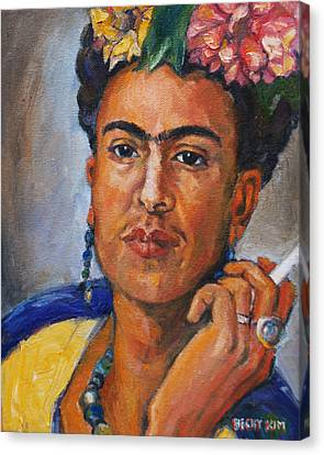 Frida Kahlo Canvas Print by Becky Kim