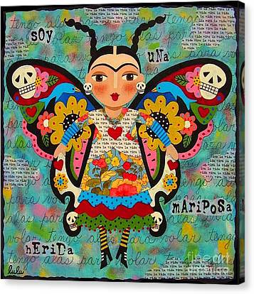 Frida Kahlo Butterfly Canvas Print