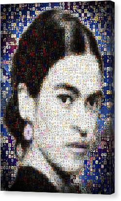 Frida Kahlo Mosaic Canvas Print