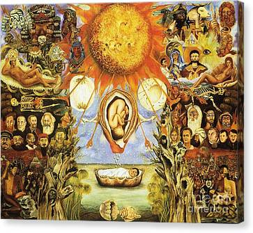 Frida Kahlo Moses Canvas Print by Pg Reproductions