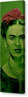 Mothersday Canvas Print - Frida Kahlo - Red Bow by Richard Tito
