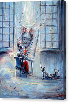 Frida La Artista Canvas Print by Heather Calderon