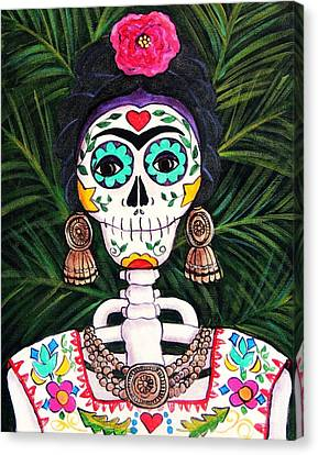 Frida With Palms Canvas Print by Candy Mayer