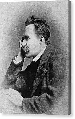 Friedrich Nietzsche(1844-1900) Canvas Print by Granger