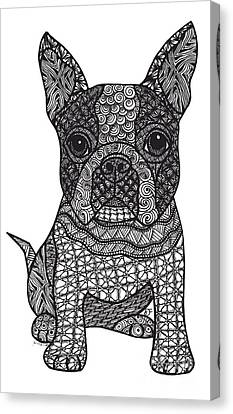 Friend - Boston Terrier Canvas Print