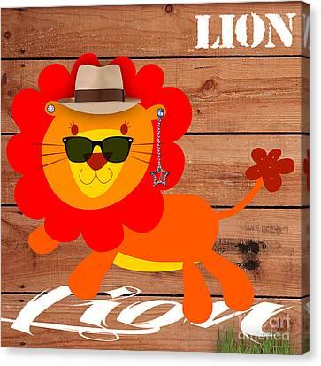 Child Canvas Print - Friendly Lion Collection by Marvin Blaine