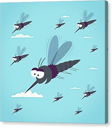 Friendly Mosquitos Canvas Print by Mark Airs