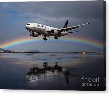 Friendly Skies Canvas Print by Alex Esguerra