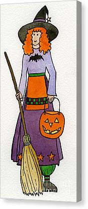 Friendly Witch Canvas Print by Norma Appleton