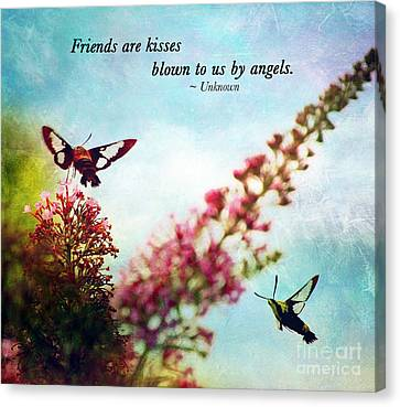 Friends Are .....  Canvas Print by Kerri Farley