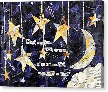 Friends Are Like Stars Canvas Print by Paula Dickerhoff