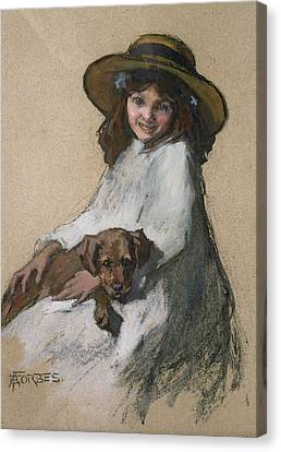 Friends Canvas Print by Elizabeth Adela Stanhope Forbes
