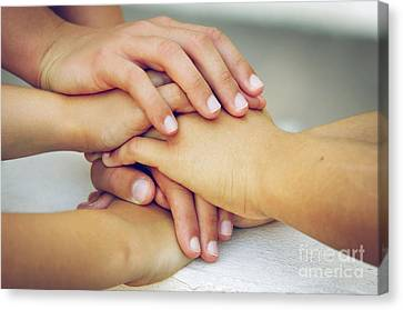 Friends Forever Canvas Print - Friends Hands by Carlos Caetano