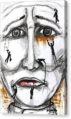 Friends In Need  Canvas Print by Sladjana Lazarevic